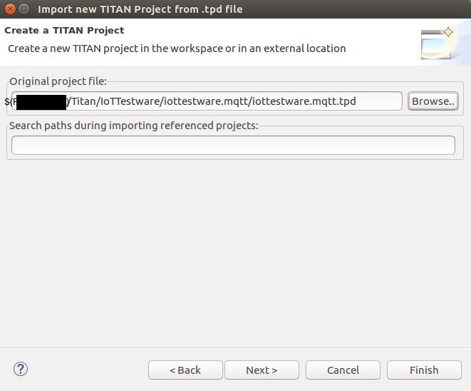 Create TITAN Project