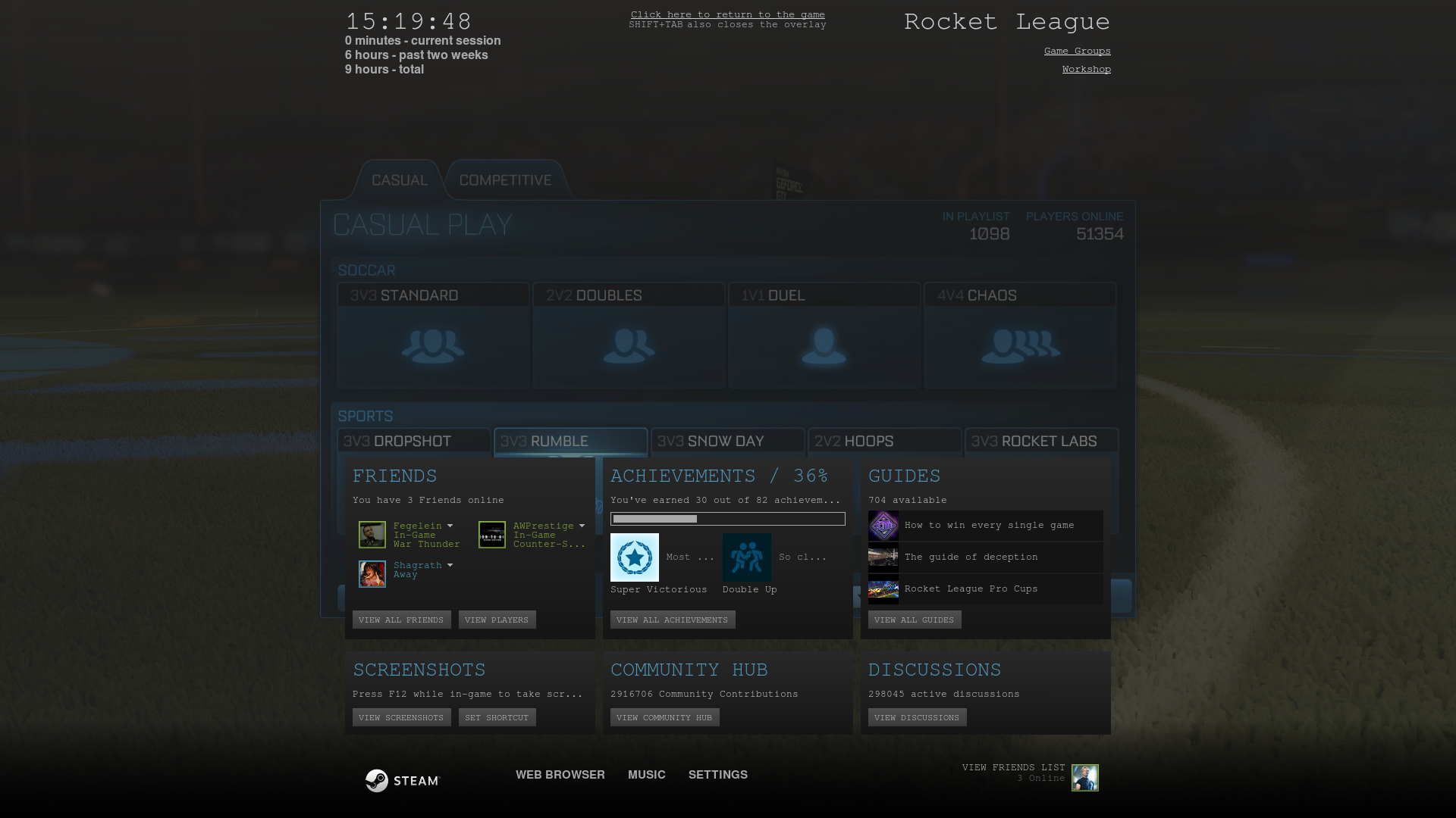 After going into Big Picture Mode , Steam Overlay font