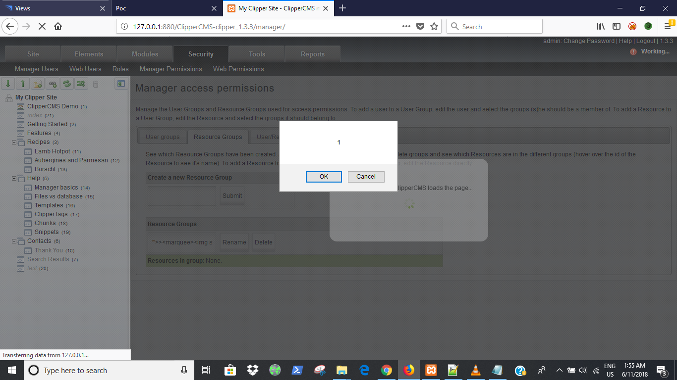 Stored XSS in Manager Permissions · Issue #488 · ClipperCMS