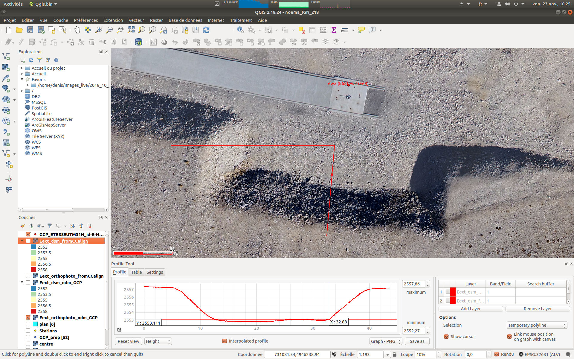 Output ODM orthophoto is shifted compared to point cloud and dsm