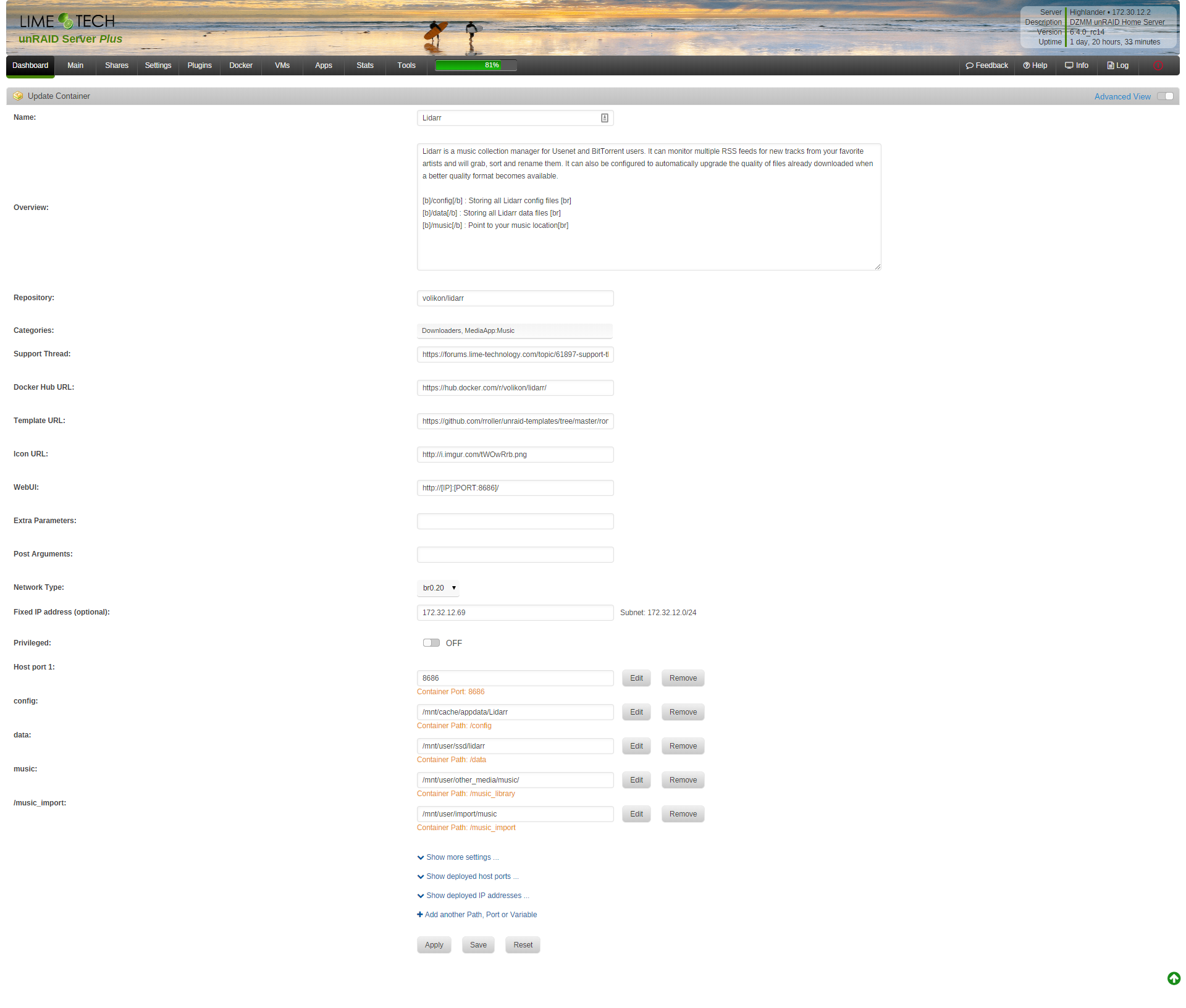 Docker: doesn't support macvlan - webui not accessible when assign