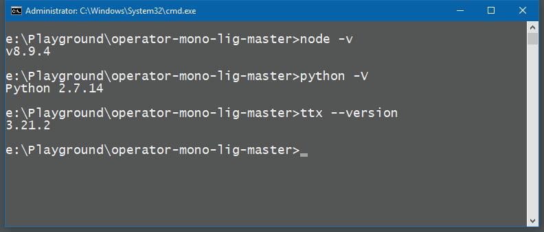 Build fails on Windows · Issue #57 · kiliman/operator-mono