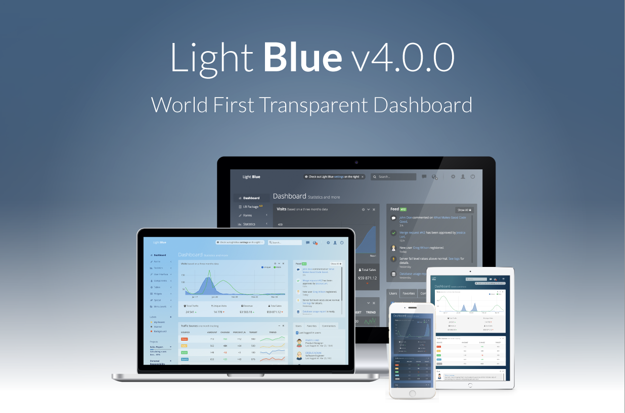 GitHub - flatlogic/light-blue-dashboard: 🔥 Free and open-source