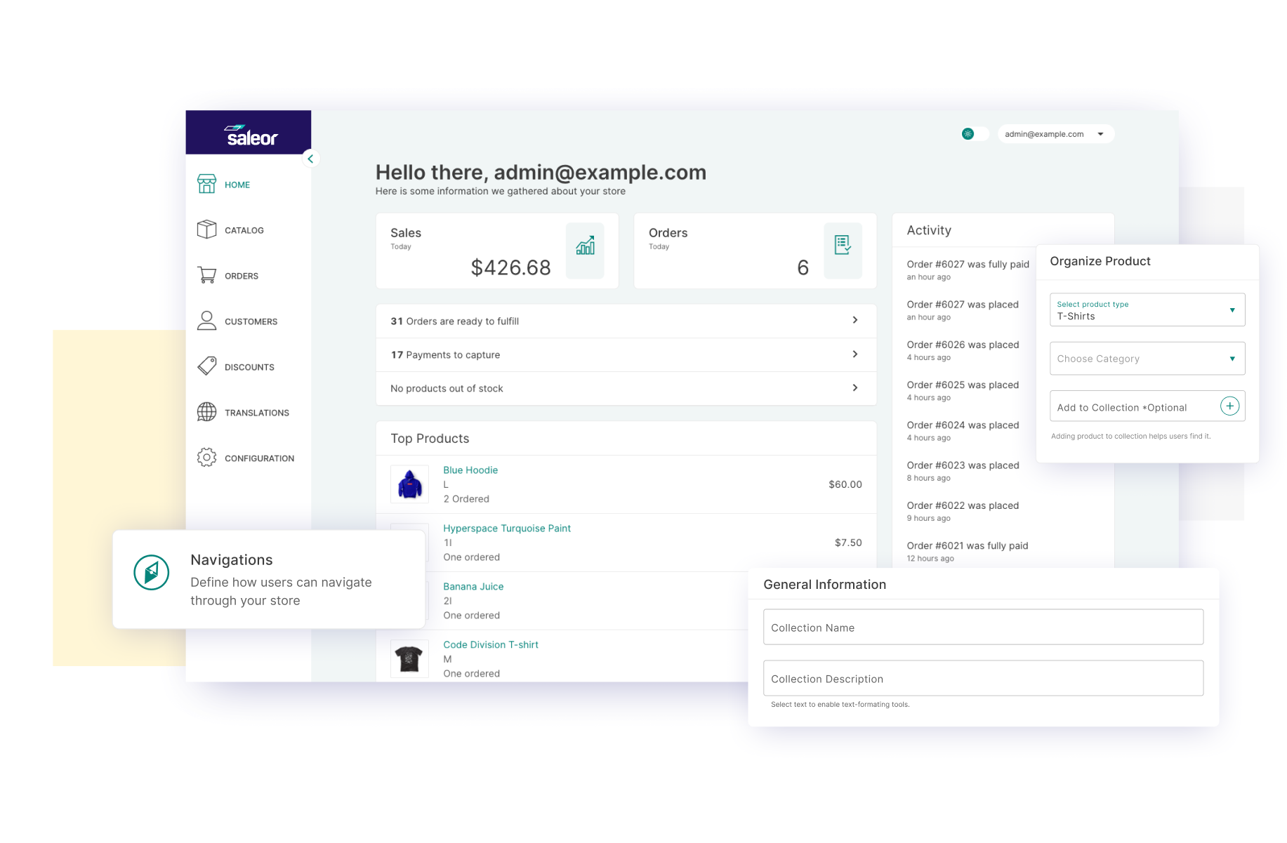 Saleor Dashboard - Modern UI for managing your e-commerce