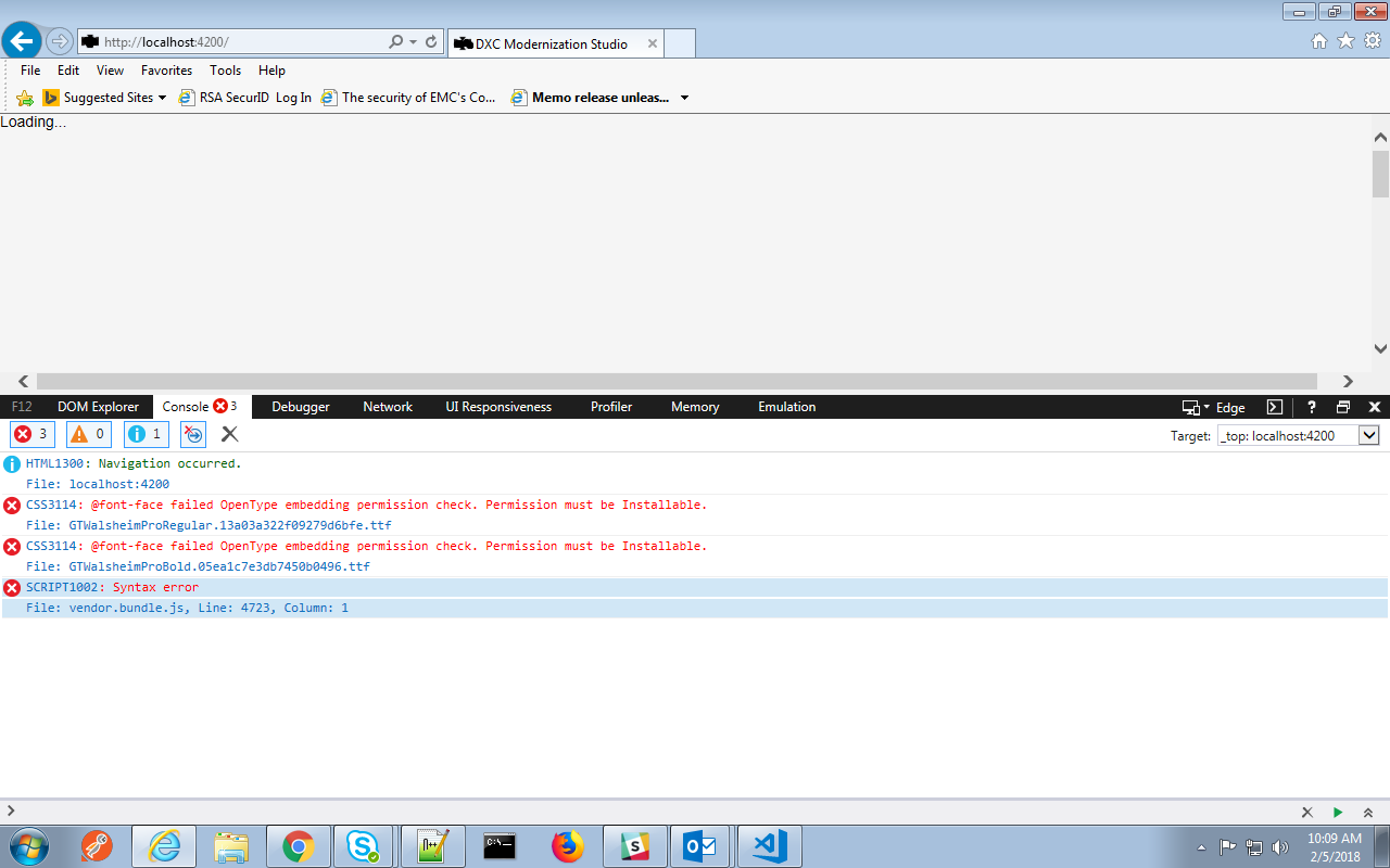 IE 11 Syntax error after doing ng serve · Issue #9508