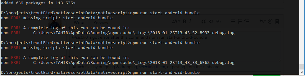 Error: npm run start-android-bundle · Issue #97 · NativeScript