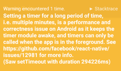 Setting a timer for a long period of time, i e  multiple minutes