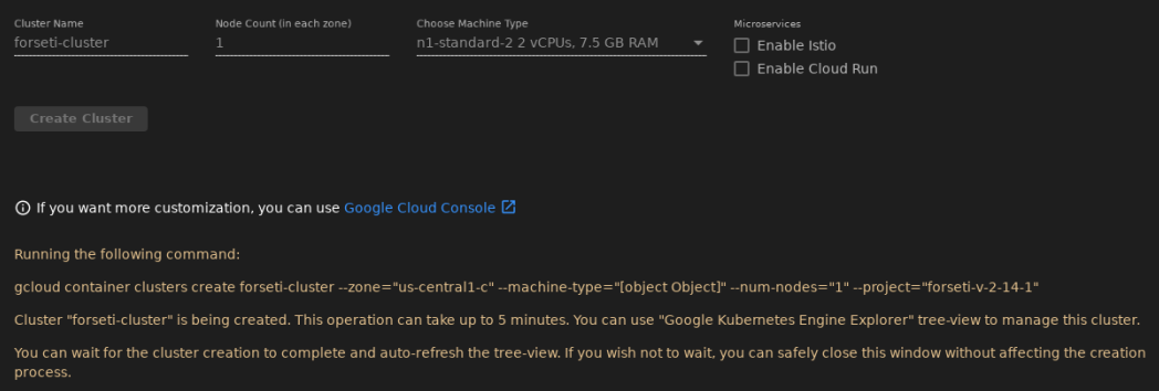 Create Cluster Machine Type Bug · Issue #92