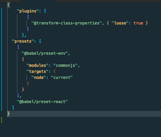 after adding @babel/plugin-proposal-class-properties in same