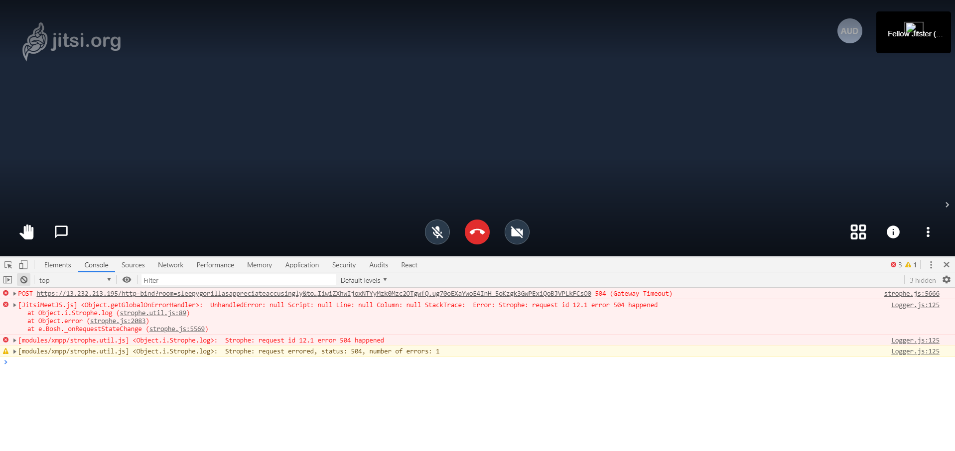 jitsi video is not working when auth mode is token · Issue