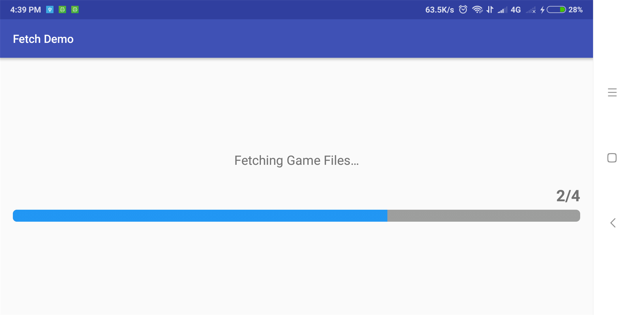 Fetch Download Progress