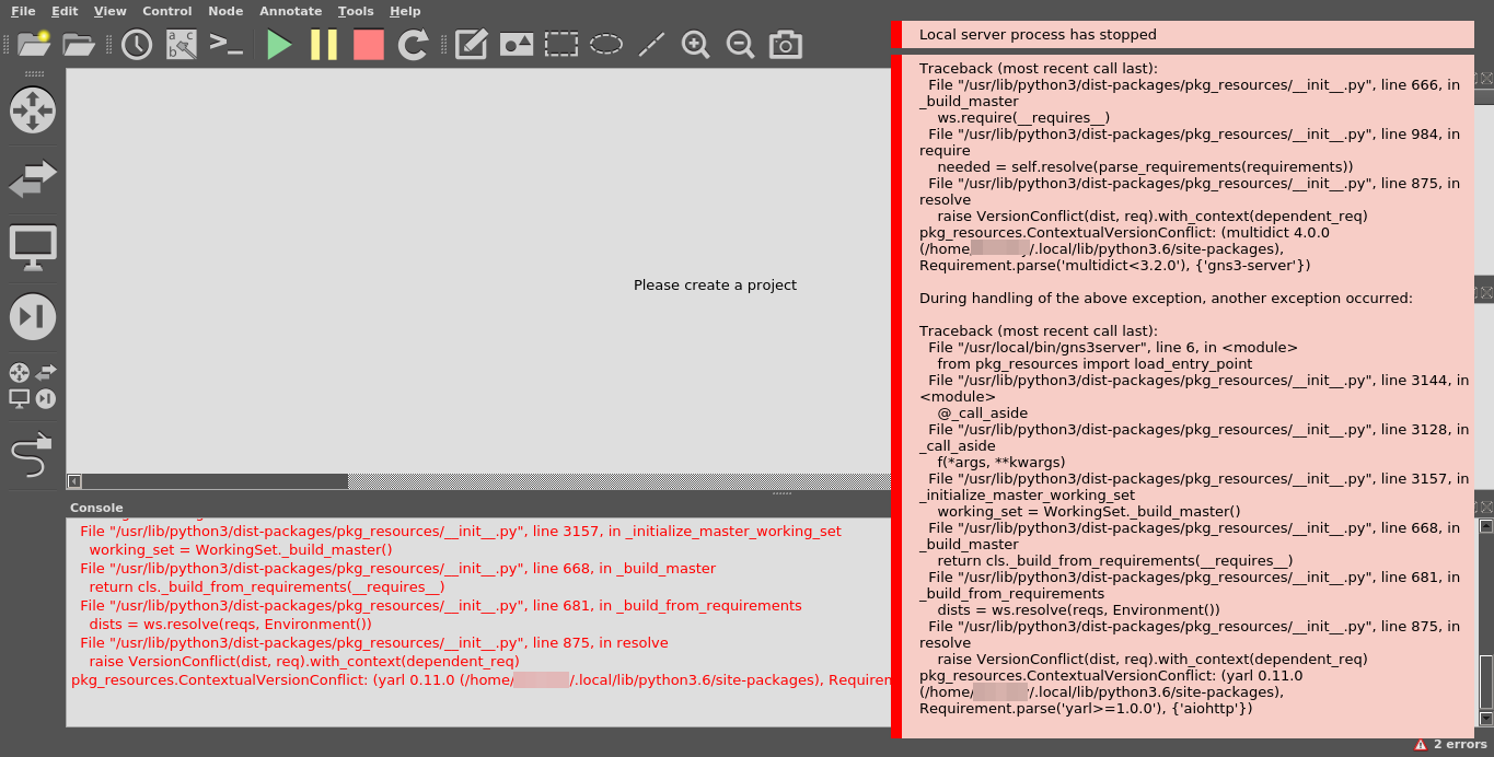 Problem with gns3 on linux (Debian) · Issue #2395 · GNS3