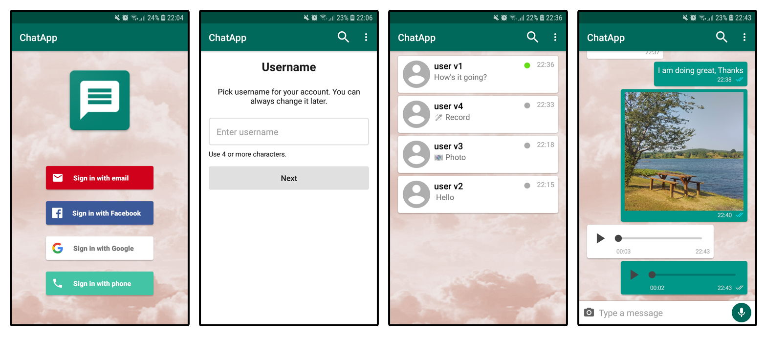 Android firestore chat github app Enigma