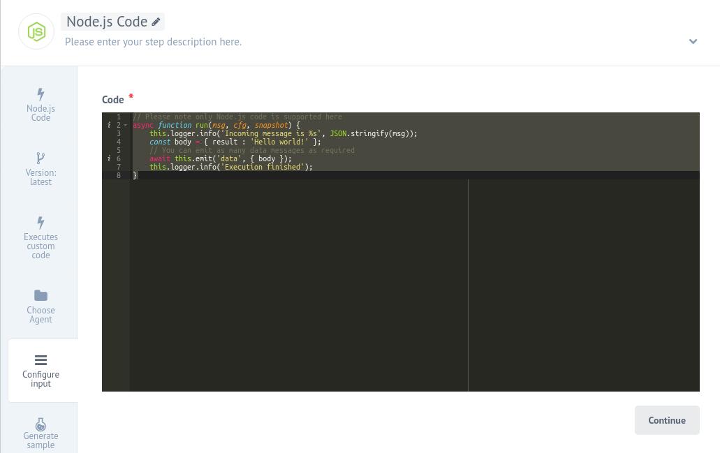 Node.js interface