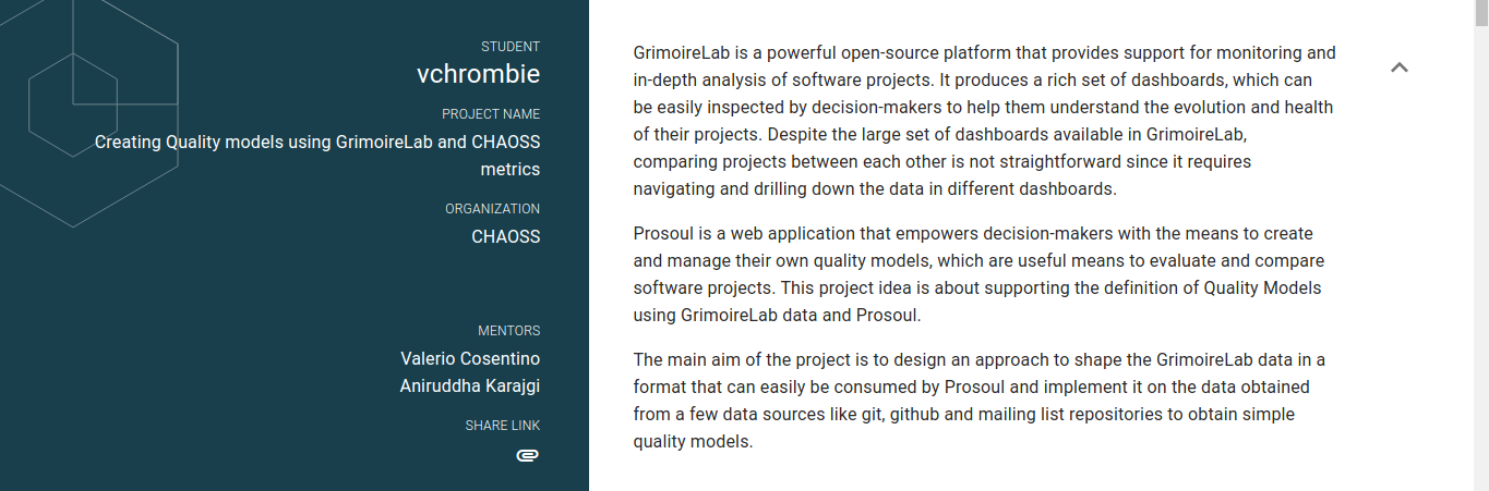 gsoc-project-page