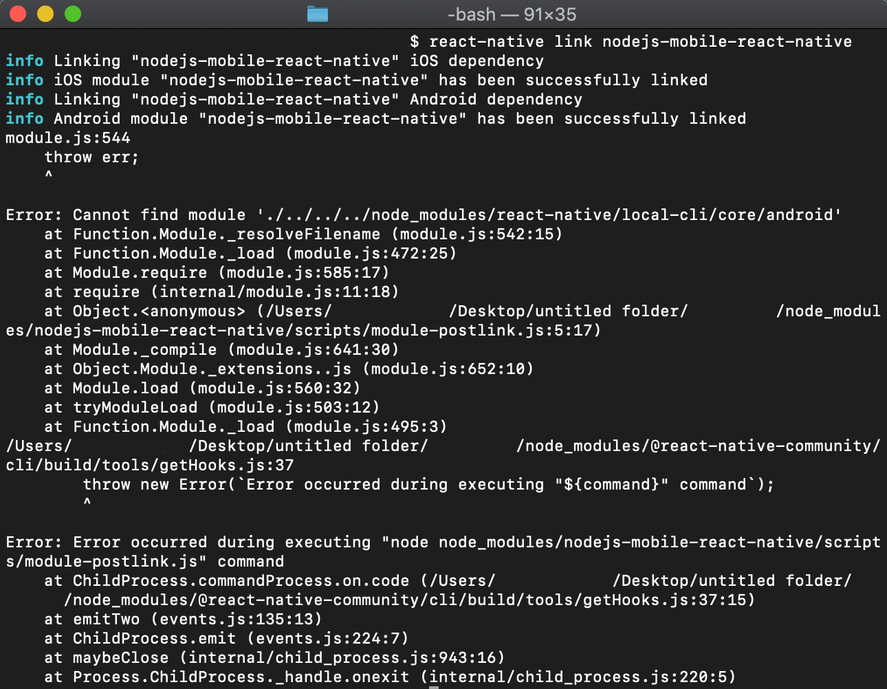 react-native link unable to find android module · Issue #179