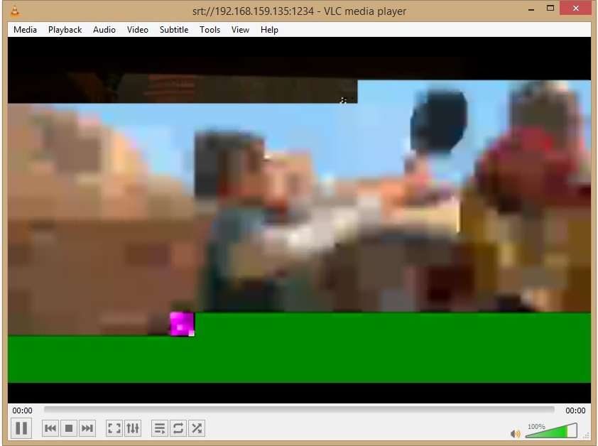 Issue SRT Transmit of MPEG2TS input and Receive and Playback with