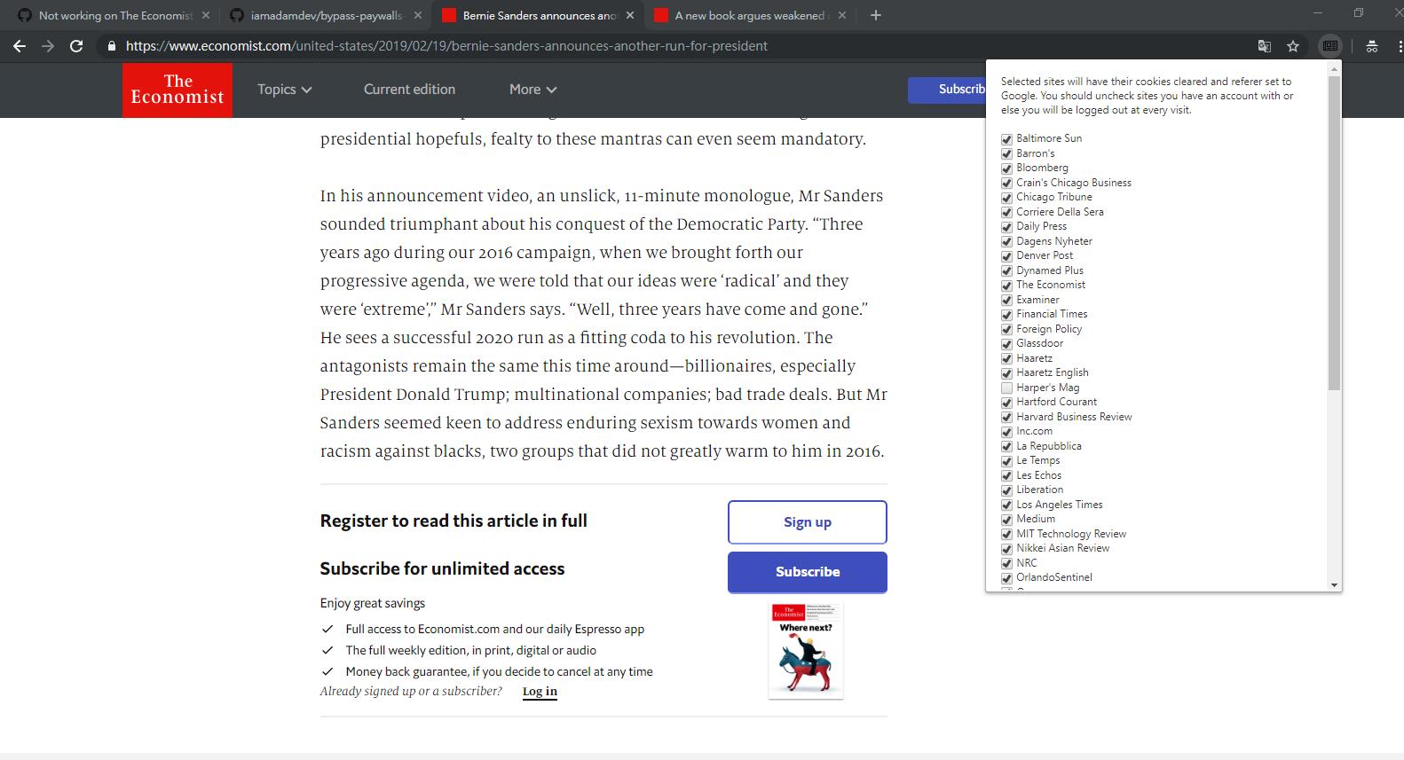 Not working on The Economist · Issue #111 · iamadamdev/bypass