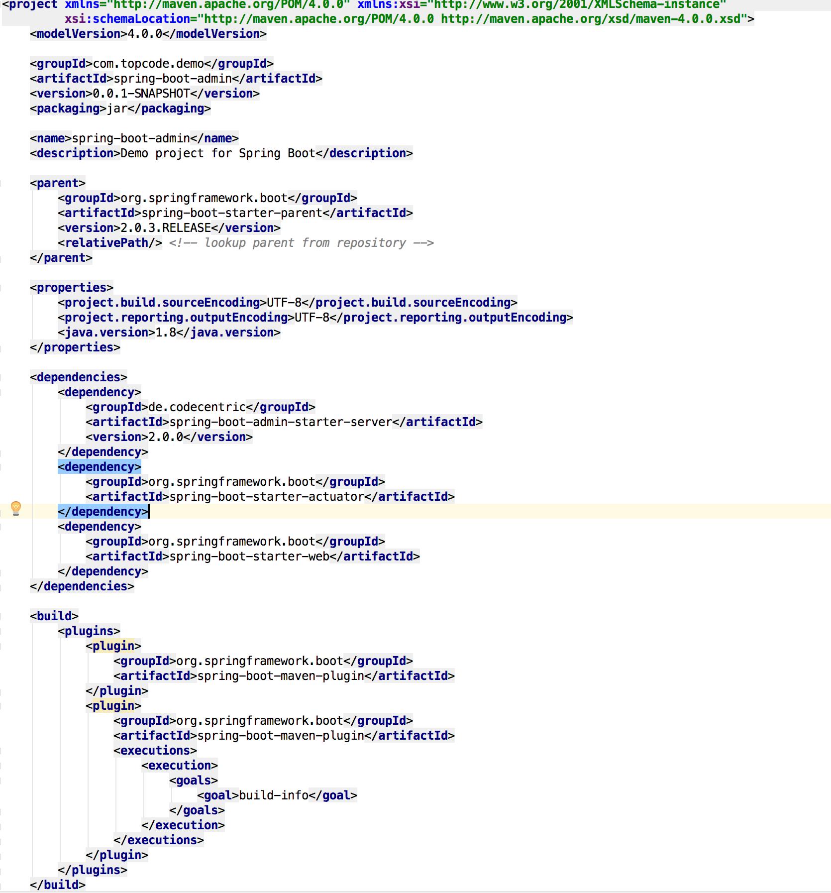 Spring-boot-admin has been running error: java io