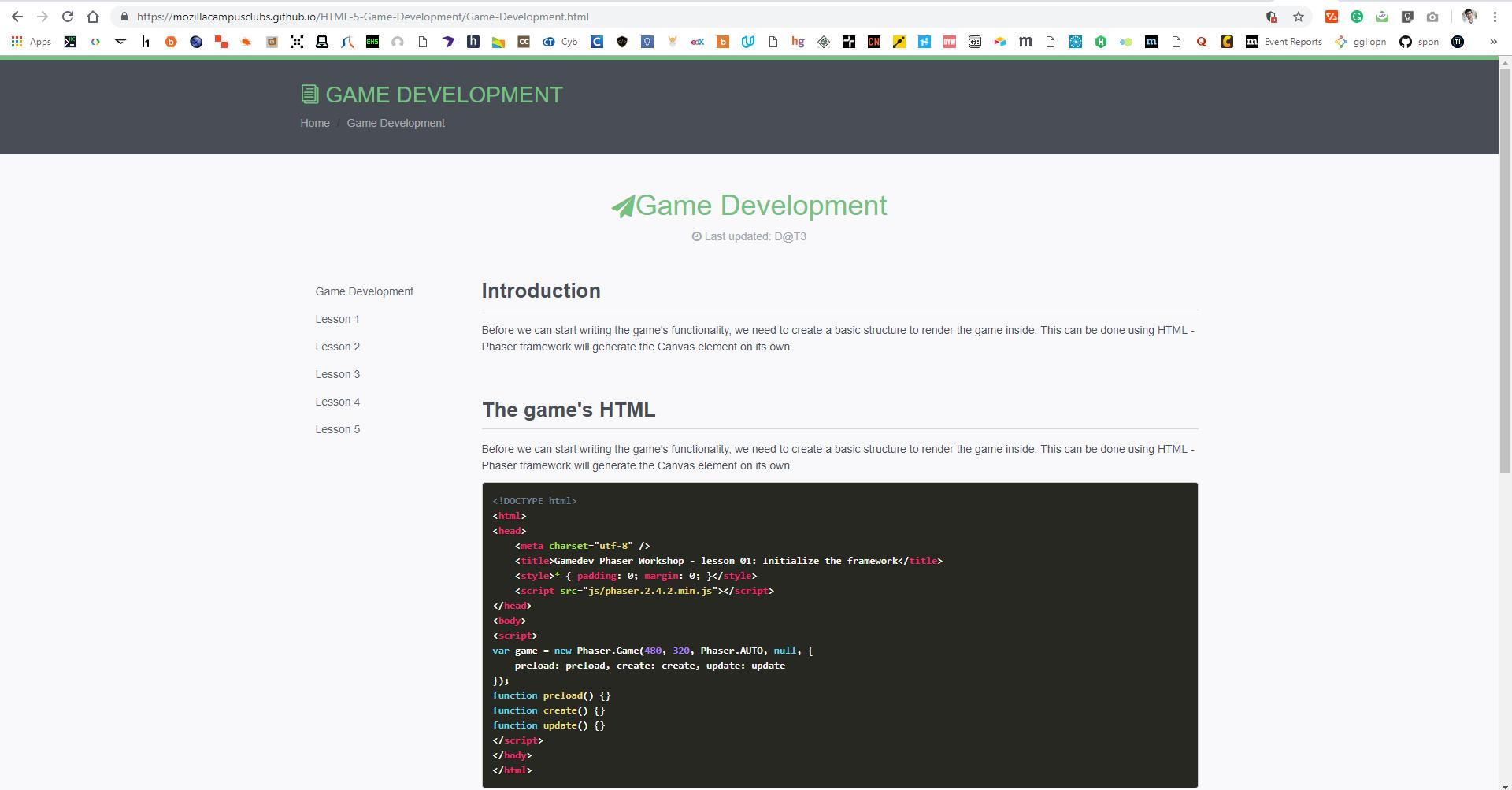 Broken Website · Issue #4 · mozillacampusclubs/HTML-5-Game