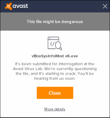 Version 6 of the program blocked by Avast Antivirus · Issue #8