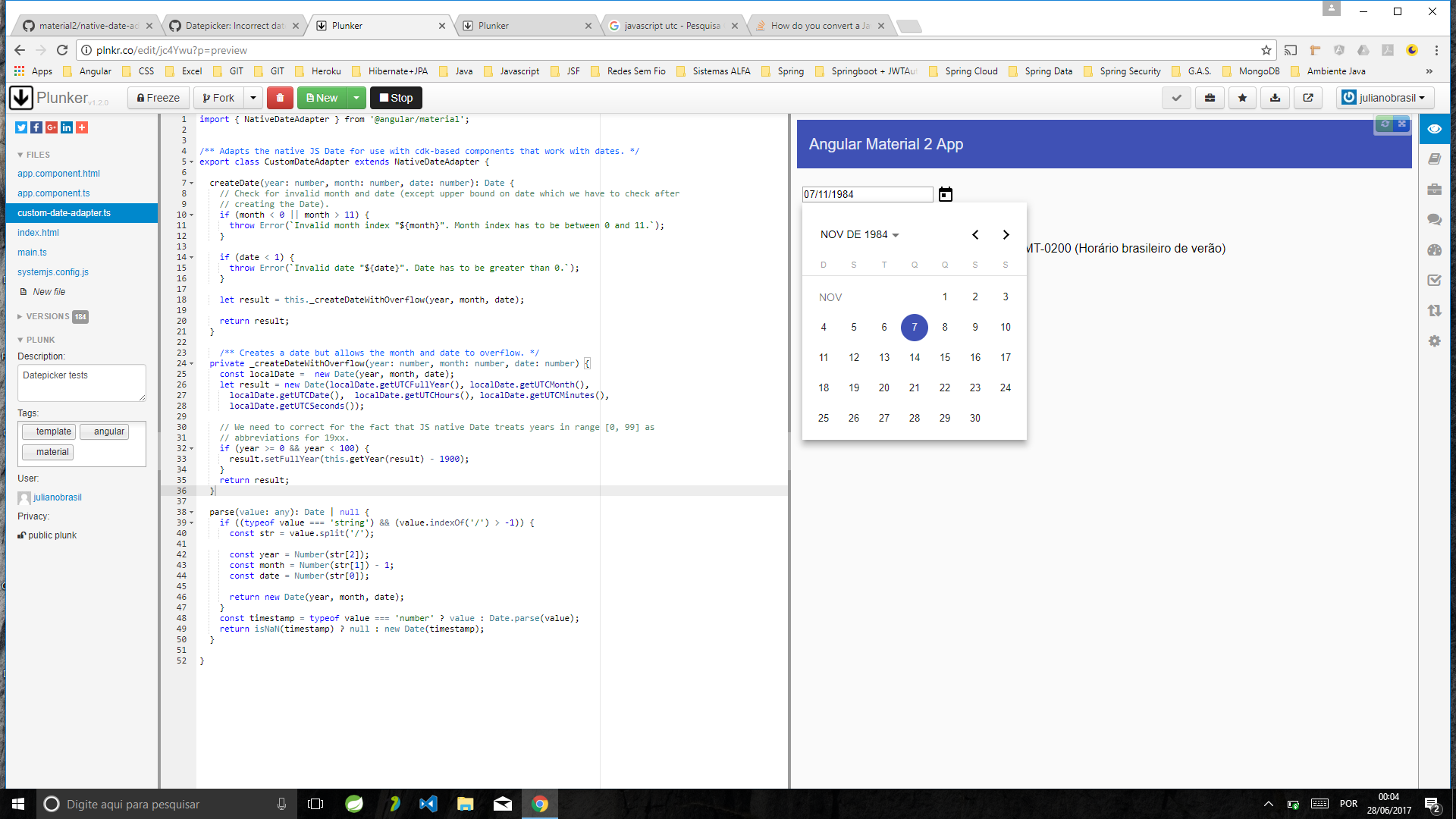 javascript iso date to utc