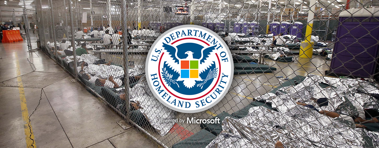 ice immigration and customs enforcement powered by microsoft
