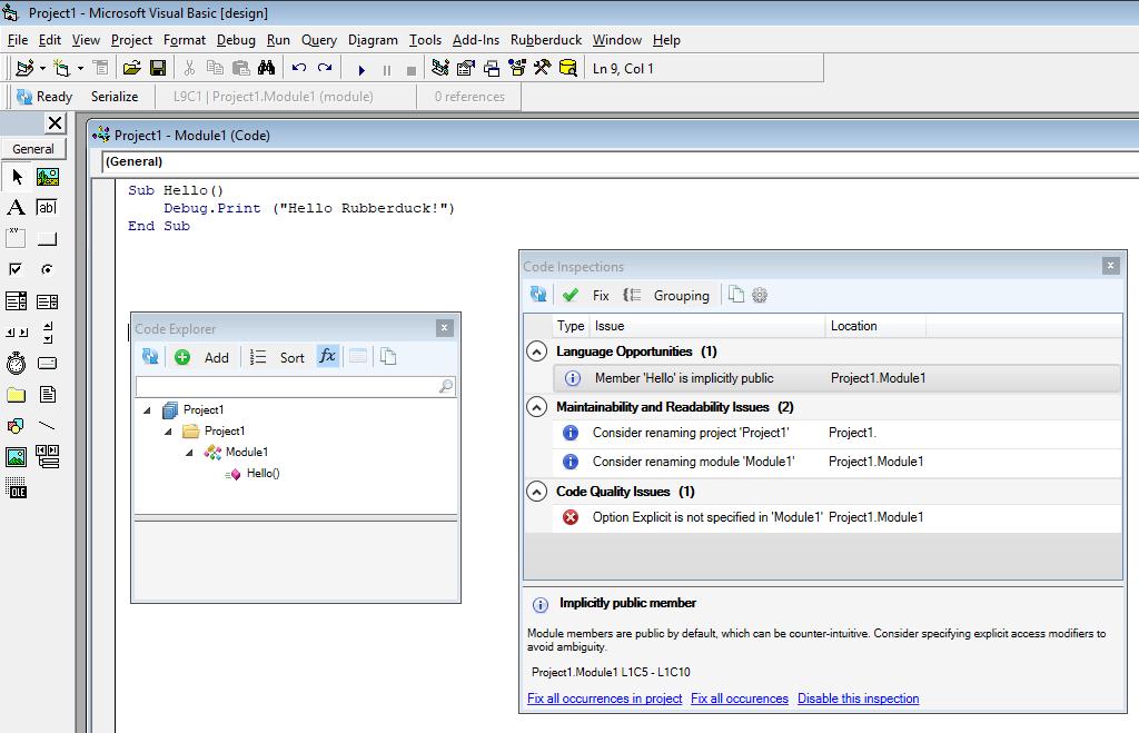 VB6 IDE support · Issue #298 · rubberduck-vba/Rubberduck · GitHub