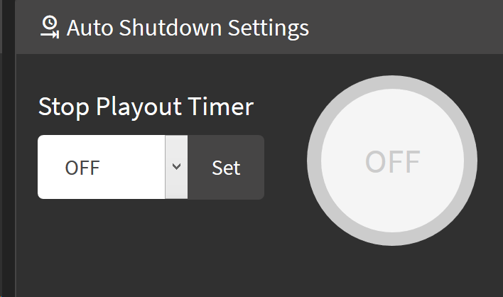 Web-UI Stop Playout Timer Value not shown in circle · Issue