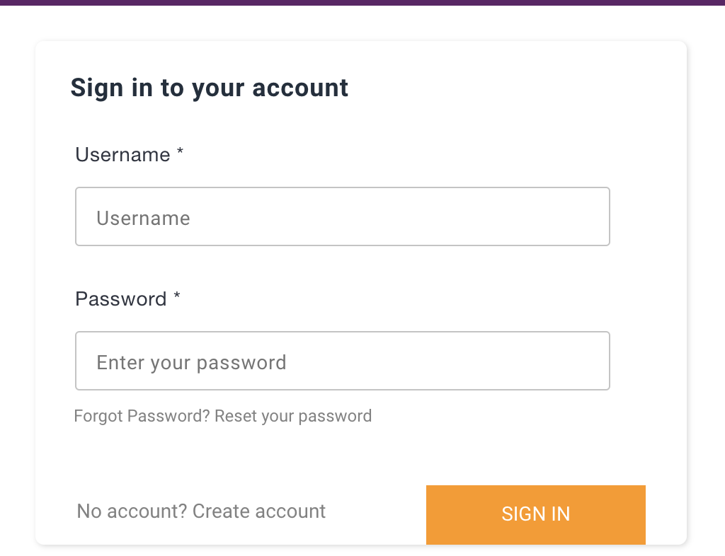 amplify-authenticator angular change username to emailid in