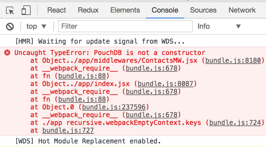 Uncaught TypeError: PouchDB is not a constructor(…) using PouchDB