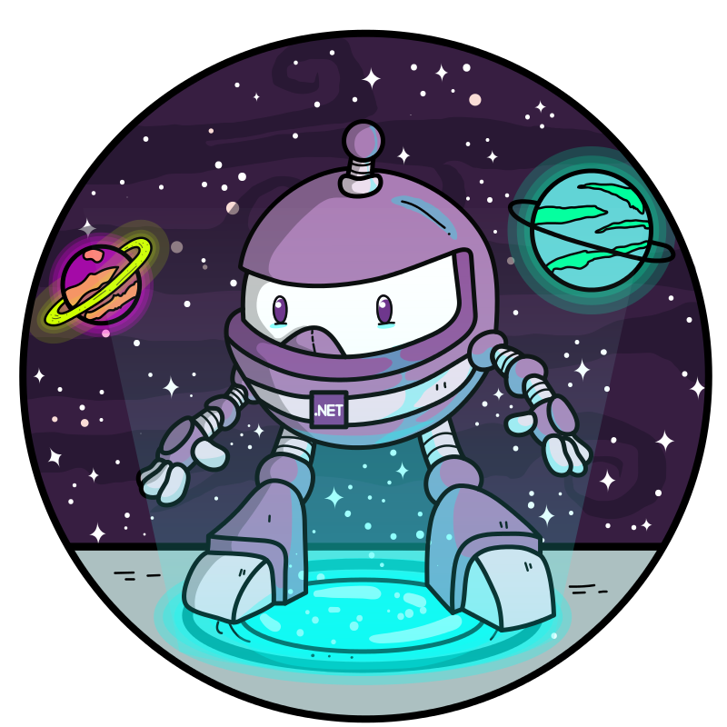 dotnet bot in space