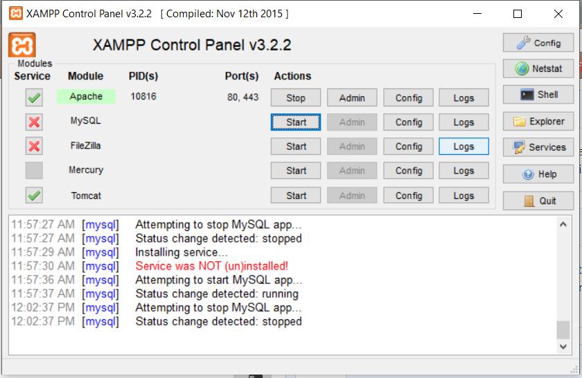 Xampp mariadb 10.2 software