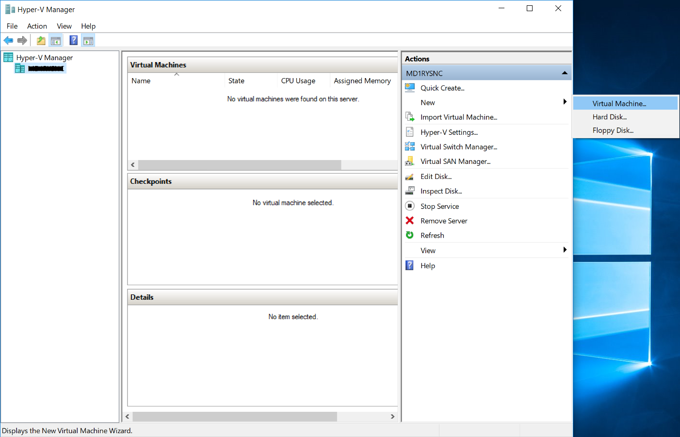 Creating an Ubuntu Virtual Machine in HyperV (Windows 10