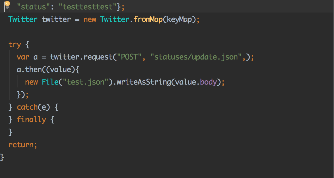 Unable to post status using rest API · Issue #7 · sh4869/twitter