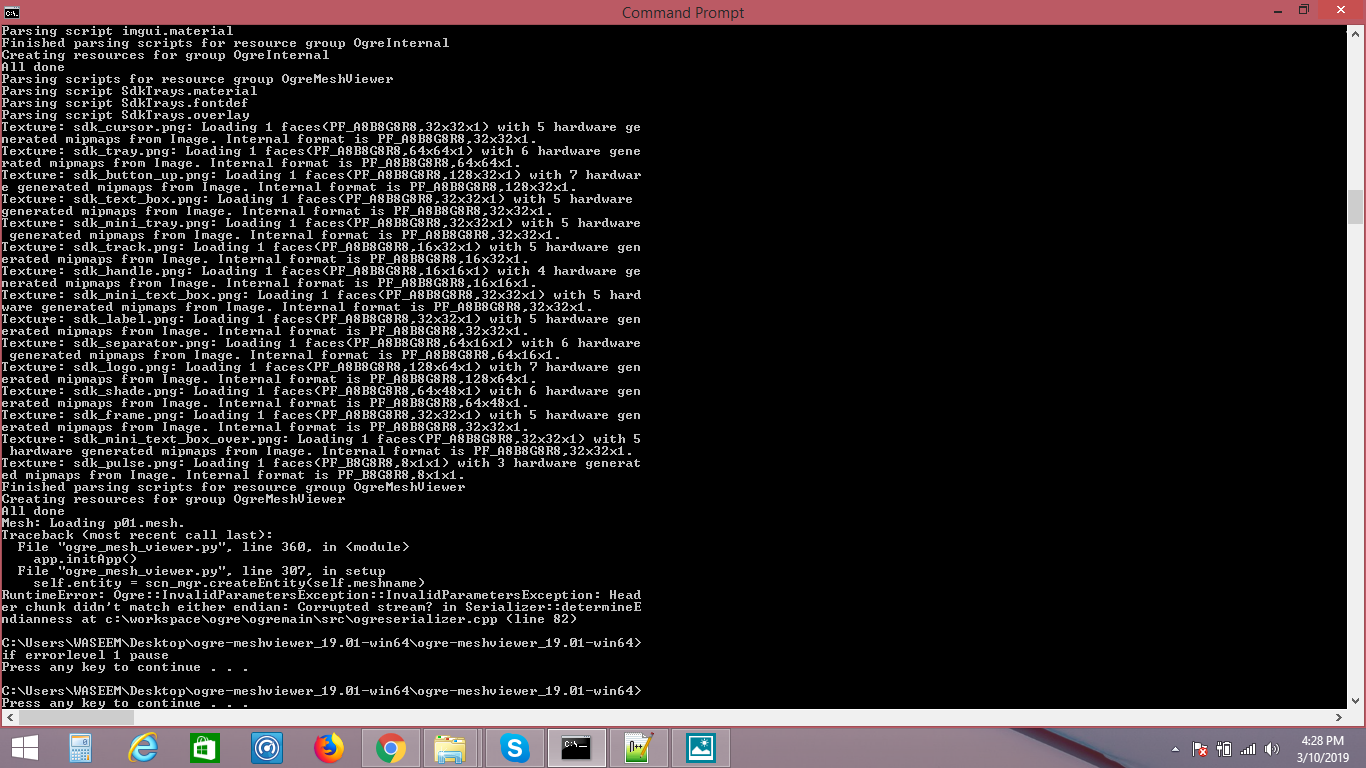 facing an error while running batch file · Issue #3 · OGRECave/ogre