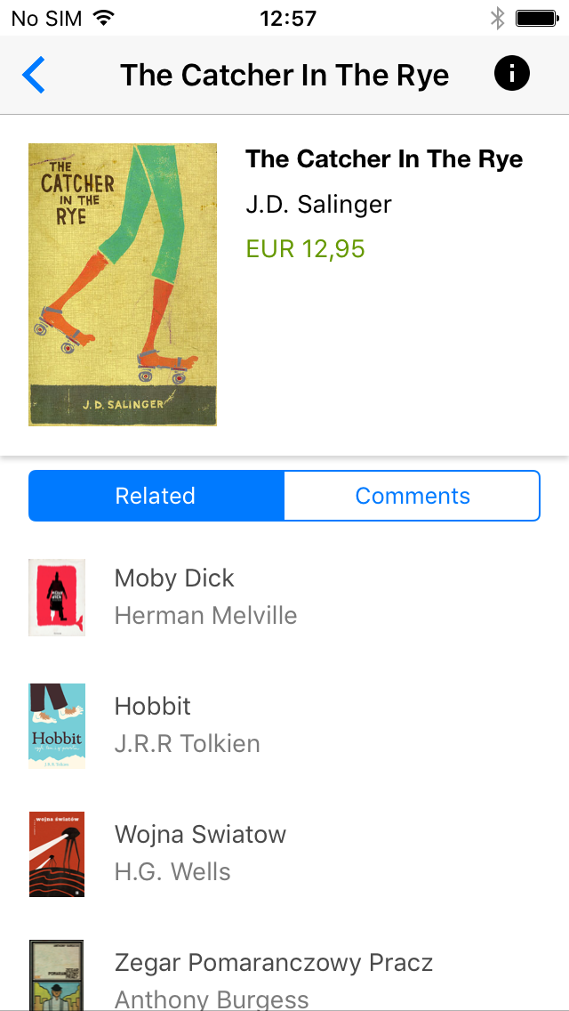 Bookstore example on iOS