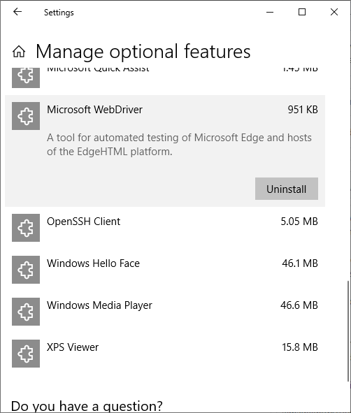 Microsoft Edge is now a FoD aka Feature on Demand · Issue