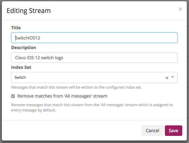Messages validated against stream but not routed into it