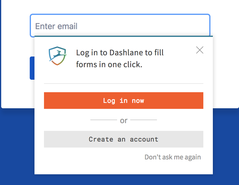 Clicking on Dashlane icon goes to about:blank · Issue #13384