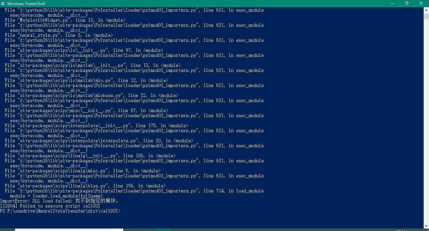 ImportError: DLL load failed: The specified module could not be