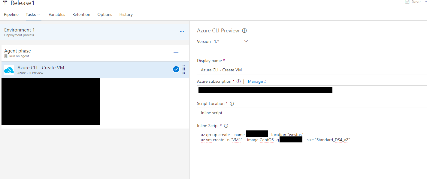 Hosted agent - Task: Azure CLI Preview - ERROR: Failed which