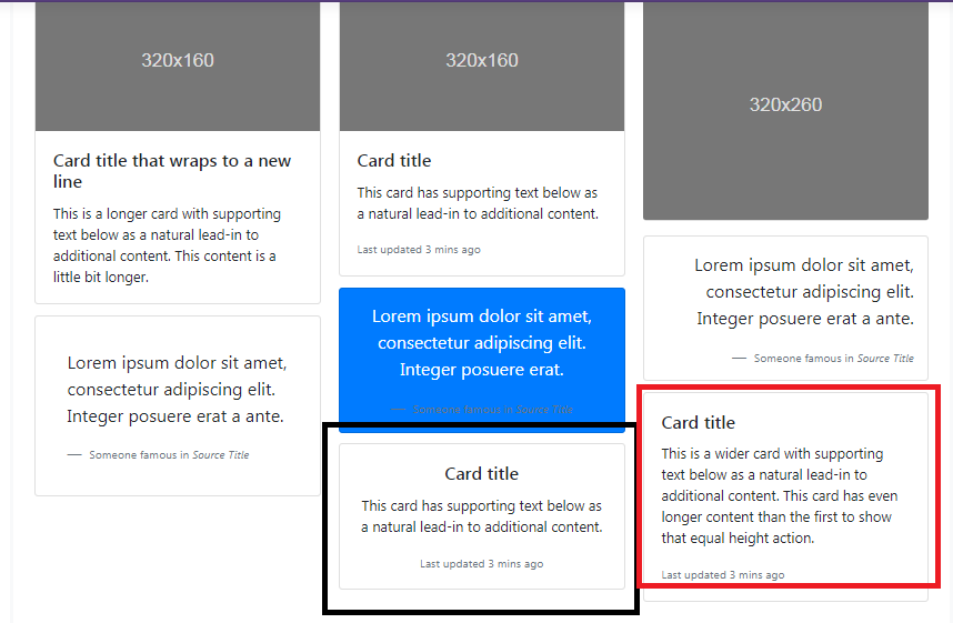 Card Columns is badly structured · Issue #26586 · twbs