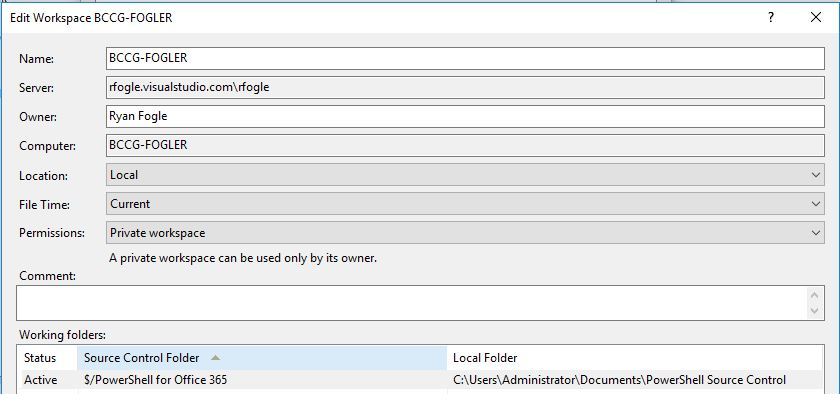Extension thinks TFVC workspace is a Server workspace, when it's