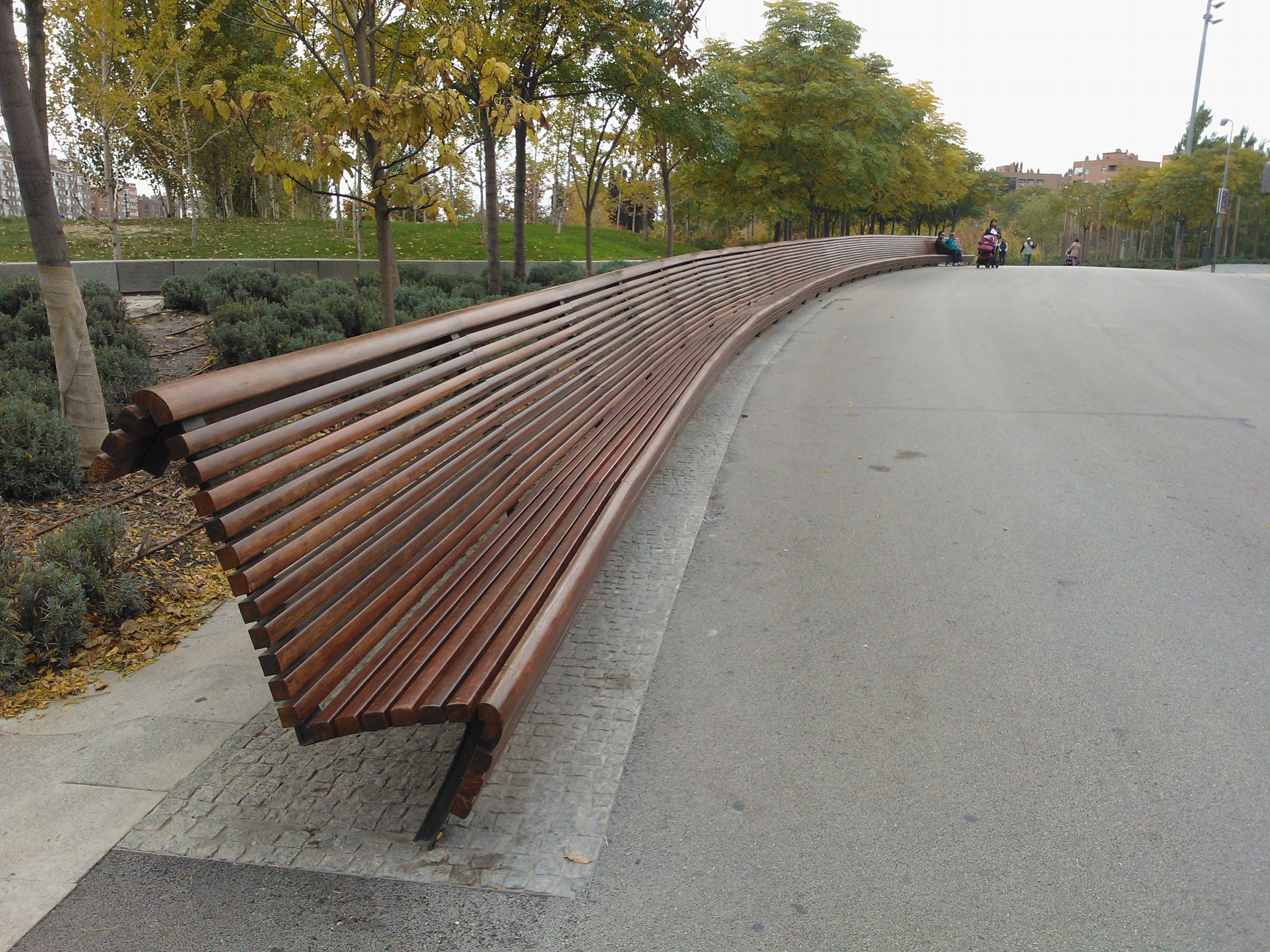 madrid long bench