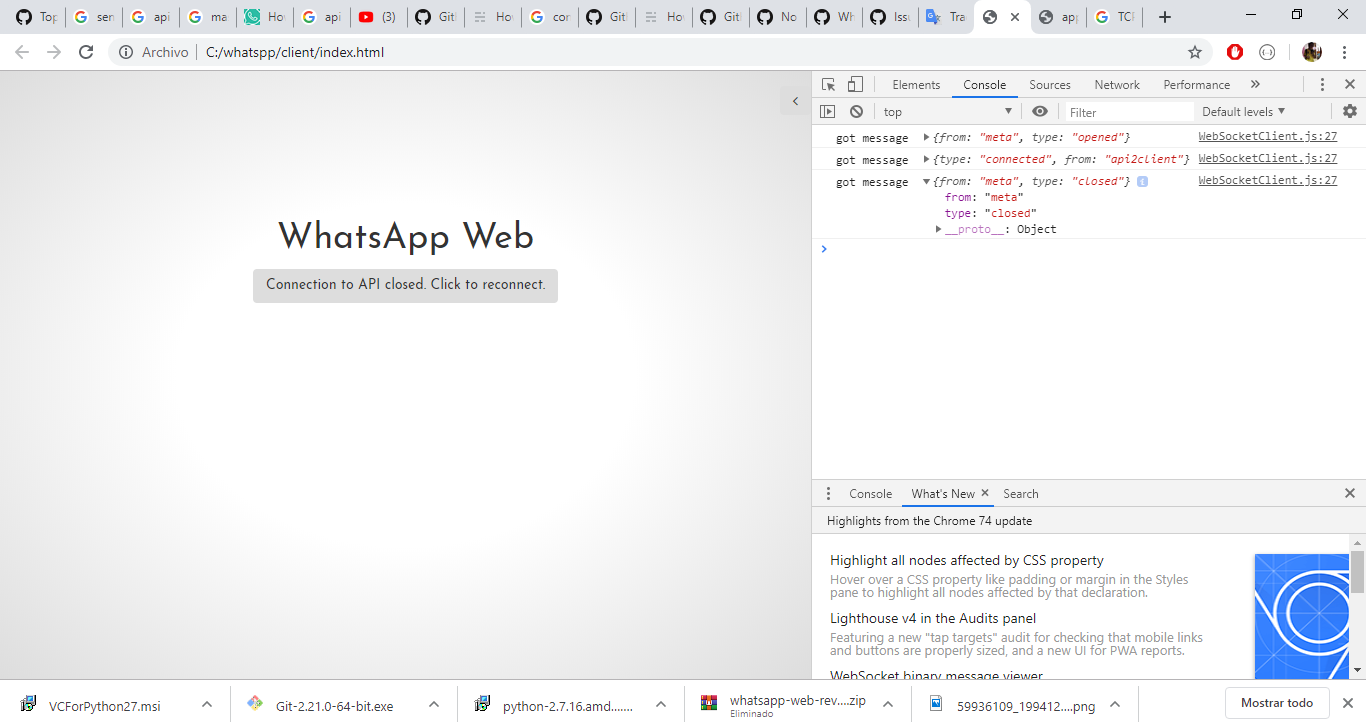 Whatsapp Web Connecting To Api Close Click To Reconnect