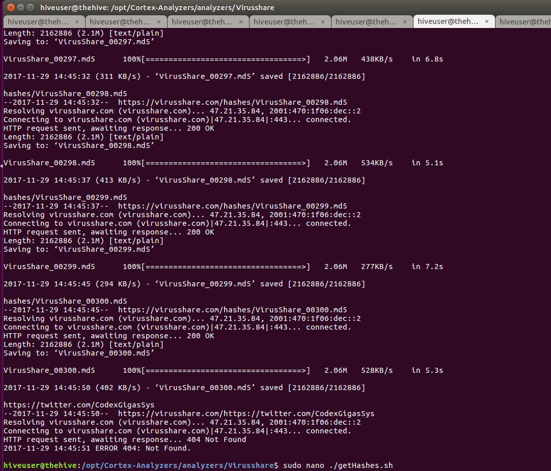 VirusShare downloader bash script bug · Issue #149 · TheHive