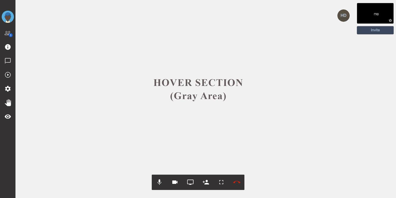 Jitsi-meet capturing hover event on screen · Issue #2385 · jitsi