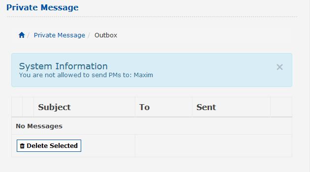 Can't send a private message · Issue #3550 · e107inc/e107