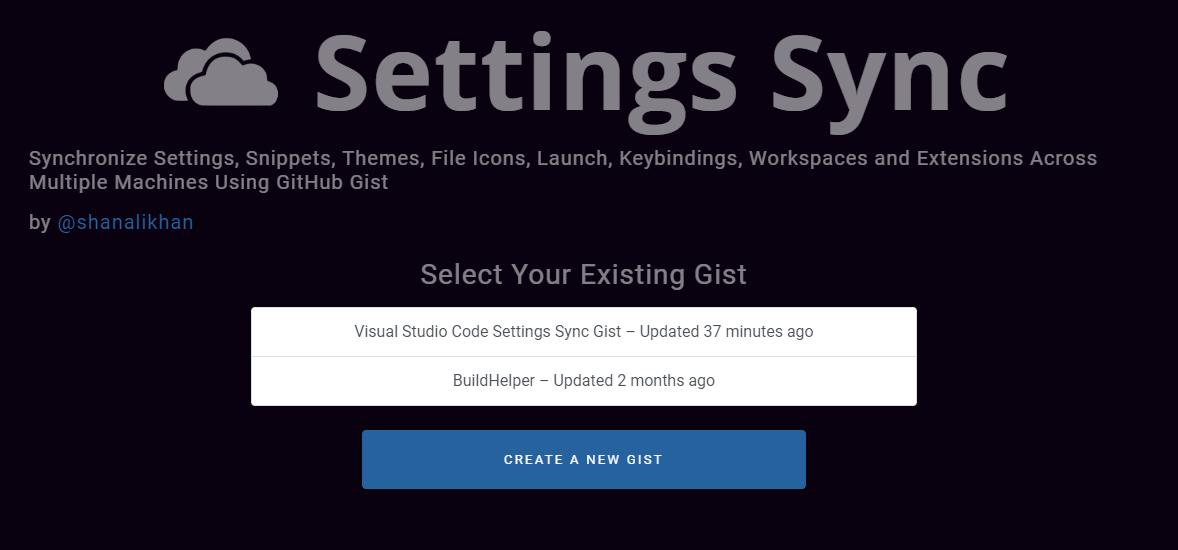 Gist Selection Page